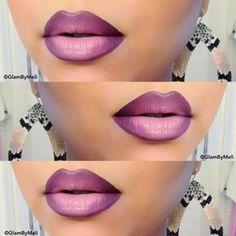 umbre lips, purple mouth, makeup, kisses, perfect, shading