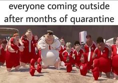 "'Coming Out Of Quarantine' Memes Imagine Our Moment Of Freedom - Funny memes that ""GET IT"" and want you to too. Get the latest funniest memes and keep up what is going on in the meme-o-sphere. Funny Disney Memes, Crazy Funny Memes, Really Funny Memes, Stupid Memes, Funny Relatable Memes, Haha Funny, Funny Quotes, Funny Stuff, Funny Things"