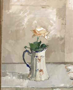 Euan Uglow: Still Life with Rose and Pitcher , c. 1957.