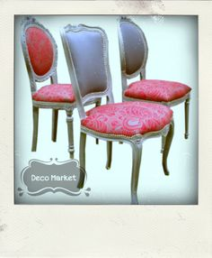 Sillon estilo luis xv retapizado en tela de rayas de tonos for Sillas tapizadas estampadas