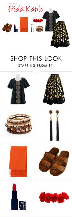 """""""Frida Kahlo"""" by elyssiastyles on Polyvore featuring Alfred Dunner, Mudd, Lela Rose, Uniqlo and NARS Cosmetics"""