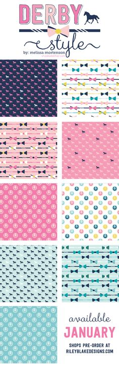Derby Style fabric a new line of quilting cotton from Melissa Mortenson and Riley Blake Designs