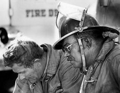 """2 Exhausted firemen """"The MGM Grand fire occurred on November 1980 at the MGM Grand Hotel and Casino. Casino Hotel, Plaza Hotel, Clark County Fire Department, Bad Hotel, Las Vegas Review Journal, Las Vegas Homes, Still Standing, Family Affair, Let Them Talk"""