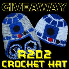 Crochet R2D2 Hat Giveaway @Mamadecreations Checkout MaMade Diaries handmade R2D2 Crochet Hat in this Great Giveaway and +Michelle Williams  included a Promo Code to use on other items in her Etsy store The MaMade Creations