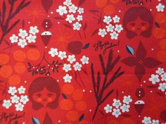 Red Cotton Tablecloth 58Square / Round Tablecloth / by MilaStyle