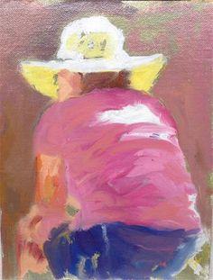 """Daily+Paintworks+-+""""Hat""""+-+Original+Fine+Art+for+Sale+-+©+Joseph++Mahon"""