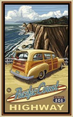 christinerod:  Travel poster of Highway 101
