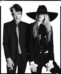 Angus Whitehead and Idina May Moncrieffe in Saint Laurent, photographed by Christian Oita for GQ Style S/S 2013.