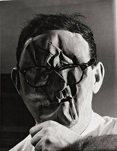 Self Sortrait, Erwin Blumenfeld (1897-1969), one of the most influential photographers of the twentieth century.