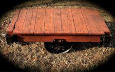 Old Industrial Cart Coffee Table by RandomRelics2013 on Etsy, $500.00