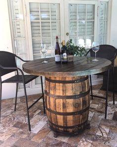 Wine Barrel Rustic Table Reclaimed Wine Barrel Reclaimed Table Wine Barrel Table Bar Table Outdoor Table Table Top - Patio Table - Ideas of Patio Table - Wine Barrel Rustic Table Reclaimed Wine Barrel Reclaimed Outdoor Tables, Spool Tables, Wine Barrel Table, Rustic Patio, Rustic Patio Furniture, Reclaimed Table, Rustic Outdoor Furniture, Patio Table, Barrel Table