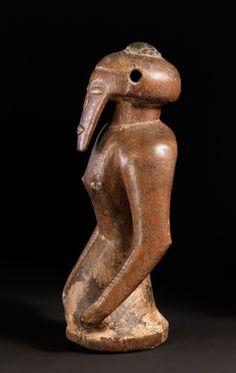Figure, kakudji Kasongo 19/20th century Wood, cloth, metal