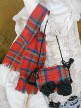 ~~~ On Hold for R. ~ Wonderful Antique French Fashion Muff and Scarf / circa 1870 ~~~