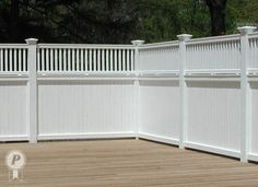 """48"""" HT Privacy fence with 24"""" partial"""