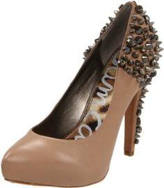 09d7dc265857c Sam Edelman Beige Roza Leather Spike Pumps Size US 6 Regular (M