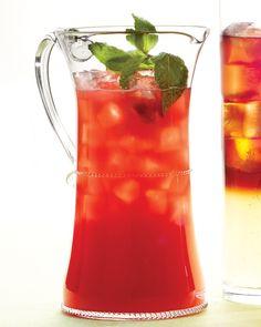 Watermelon Cooler Recipe -- ginger ale makes watermelon sparkle with a crisp, clean taste.