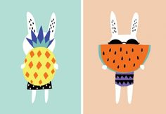 Really love these bunny illustrations by Becky Baur. Via Little Gatherer. For more creative inspiration, visit www.designisyay.com
