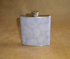SALE+Flask+Girly+Flask+Purple+and+White+Paisley+by+kryan2designs,+$12.00