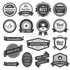 Vintage Labels Royalty Free Stock Vector Art Illustration