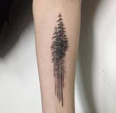 """Vaizdo rezultatas pagal užklausą """"minimalist tree tattoo"""""""