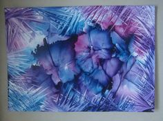 Encaustic art created by iron and hairdryer