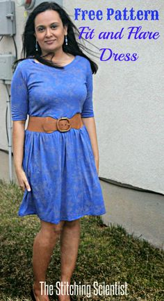 Girl Charlee Fabrics Tutorial Tuesday :: Fit and Flare Dress by The Stitching Scientist