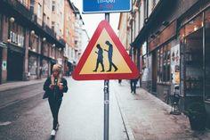 #StreetArt by Jacob Sempler -  #Stockholm - Look up, people!