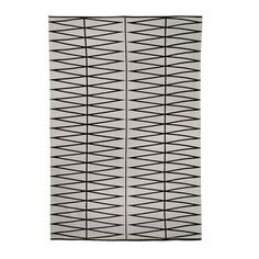 Bloomingville Teppich (Grey/Black, 140 x 200 cm)