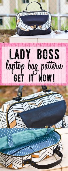 laptop bag sewing pattern | work/office bag pattern | laptop bag for women