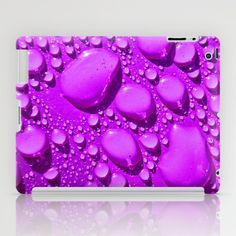 Water Drops Purple iPad Case by Alice Gosling - $60.00 #ipad #ipadmini #ipadcase #accessory #water #drops #purple #drips #nature