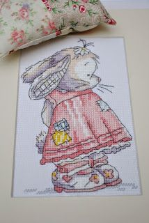 A super cute Somebunny to Love cross stitch finish. A perfect piece to make as a gift for a new baby and the chart is available for free from DMC. Check out my blog post for the details on this project at pulltheotherthread.blogspot.com
