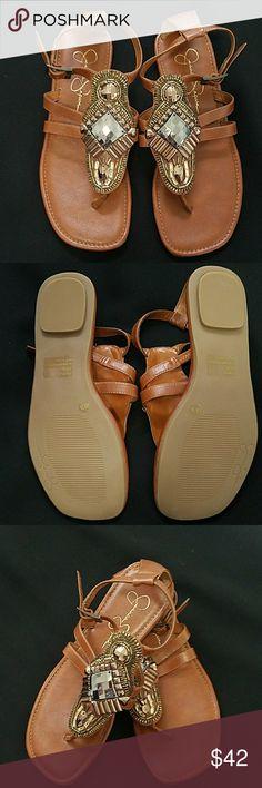 011e6202ea1 Jessica Simpson gladiator sandals size 6 brown