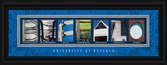 University of Buffalo Officially Licensed Framed Letter Art