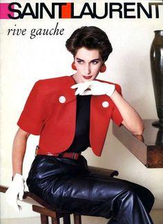 Yves Saint Laurent Rive Gauche, 1986 #LMV #YSL #mode #vintage #luxe http://www.la-mode-vintage.com/