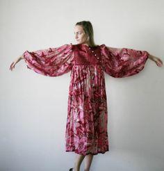 Vintage 60's Boho India Gauze Tent Hippie Gypsy Ethnic Dress Festival Dress | eBay