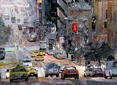 John T Salminen – California Street – Sand Francisco – watercolor