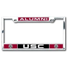usc alumni heavy chrome license plate frame