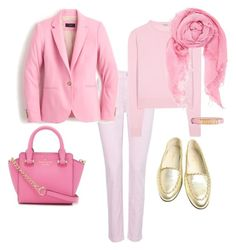 """Rose Quartz"" by j-liebichova on Polyvore featuring NYDJ, Miu Miu, Chanel, Kate Spade, J.Crew, Chan Luu, Moschino, women's clothing, women and female"