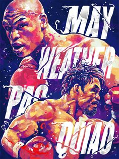artwork of Floyd Mayweather, Jr. vs. Manny Pacquiao fight : if you love #MMA, you'll love the #UFC & #MixedMartialArts inspired fashion at CageCult: http://cagecult.com/mma