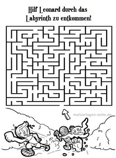 Labyrinth Rätsel Kostenlose Labyrinth Zum Ausdrucken Kinder