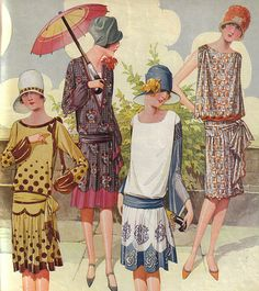 1920s fashion illustration from Pictorial Review (Pollyanna would have been a very young woman in the 1920s and would have worn clothes like this...)
