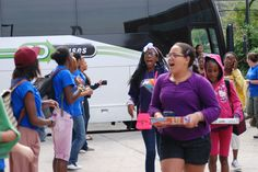 Riverbank State Park was filled with energized cheers and huge smiles on August 20th as campers returned home from their final session at The Fresh Air Fund's five overnight camps. ABC campers were the first to arrive back in NYC.