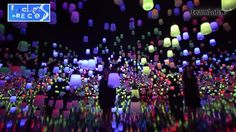 Tokyo-based TeamLab designed an art installation of venetian glass lamps that respond to observers motions.
