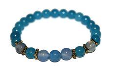 Blue Jade Bracelet Blue Bead Bracelet Blue Bracelet Stone