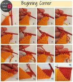 Beginning Crochet Tunisian Crochet Ten Stitch Blanket Pattern Tunisian Crochet Patterns, Crochet Squares, Knit Or Crochet, Free Crochet, Afghan Patterns, Blanket Crochet, Easy Crochet, 10 Stitch Blanket, Afghan Stitch