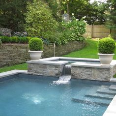 Pool With Side Wall For Planters Design, Pictures, Remodel, Decor and Ideas - page 3