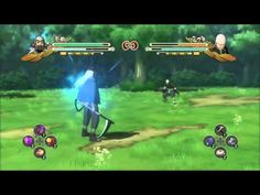 in a game Naruto Ninja storm The HUD is very basic, in consists of a health bar Stamina Bar for both characters. as well as a small item bar in the bottom middle of the screen. my first thoughts about this HUD are; I really like how much of the screen you can see, although the HUD is visible it only takes up a very small section of the screen.