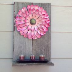 Made today out of old picket boards from fence.