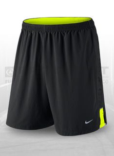 Nike 7'' SW 2-in-1 Shorts - Black/Volt/Silver - Mens Running Clothing