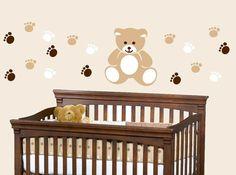 Teddy Bear Nursery Kids Vinyl Wall Decal by ToodlesDecalStudio